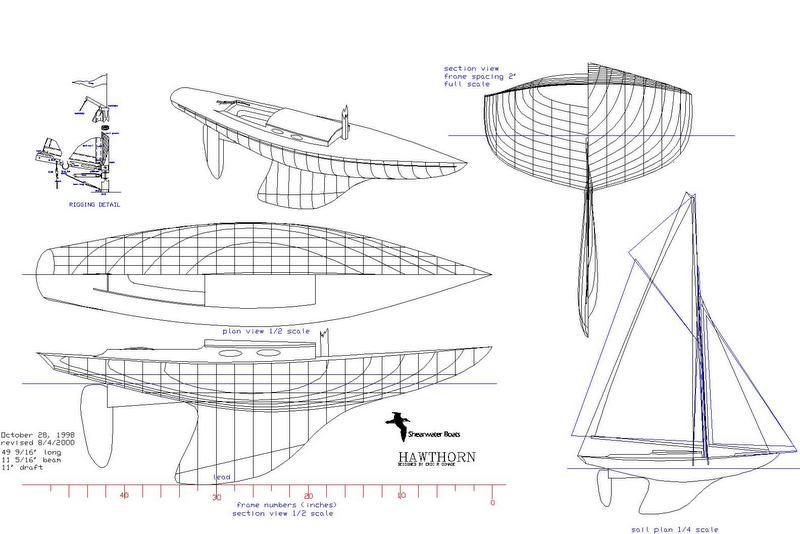 Hawthorn Sailing Model Plans – Shearwater Boats