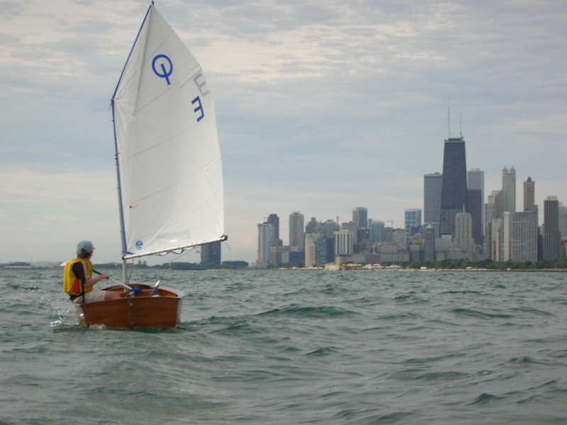 custom woodenboat class opti